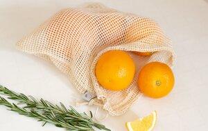 2er set Bio-Baumwolle Einkaufsnetze für Obst und Gemüse - the sustainables