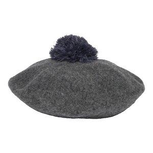 SILKROAD Baskenmütze ERICA Franzosenmütze mit Bommel aus 100% Wolle - Silkroad - Diggers Garden