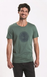 T-Shirt Adores Slub Bike Fog - GreenBomb