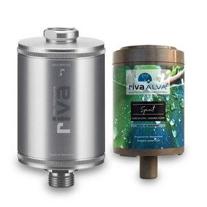 rivaALVA Filter Spirit Duschfilter Set, Schungit 100% Bio,Plastikfrei, - rivaALVA