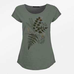 T-Shirt Cool Plants Birds in Love - GreenBomb