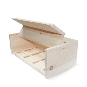 Brotkasten aus 100% Zirbenholz 45 x 16 x 25 cm  | inkl. Gitter - 4betterdays
