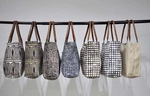 African Tote Bags - Handtasche Safari - Weiß/Braun/Beige/Blau - Sabahar