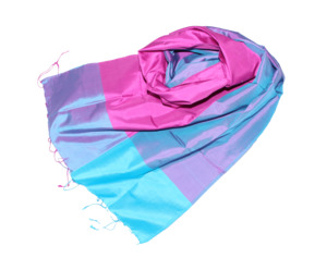 NIZZA Edler Schal aus handgewebter Seide - Schönes aus Indochina
