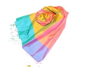 RAINBOW Schal aus handgewebter Seide - Schönes aus Indochina