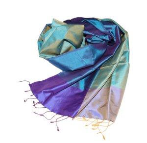 CASSIA Edler Schal aus handgewebter Seide - Schönes aus Indochina