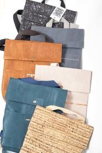 vegan Backpack + Shopper Myrto small corkskin - ein garten Studios