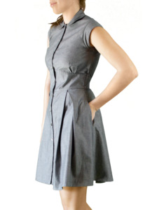 Denim button up Kleid - Mel Scherer