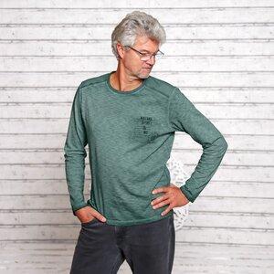 Langarmshirt 'Nature Spirit' smaragd - The Spirit of OM