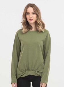 Sweatshirt aus Bio-Baumwolle mit stylischem Saum - ORGANICATION