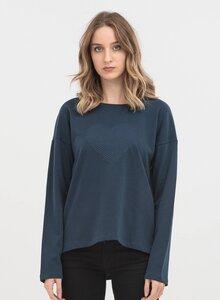 Sweatshirt aus Bio-Baumwolle mit Herz Stickerei - ORGANICATION