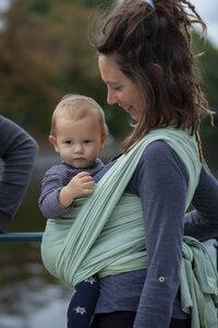 """Veganes Babytragetuch """"Yuna"""" 100% Bio-Baumwolle - Mama Nuka– Dein Babytragetuch"""