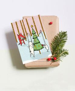 """Postkarte """"Weihnachten im Wald"""" - noull"""