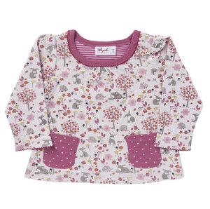 Mädchen Langarmshirt rosa bedruckt Bio - People Wear Organic
