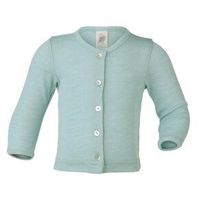 Baby Feinripp-Cardigan Bio-Wolle/Seide - Engel natur