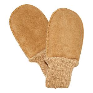 Baby Lammfell-Handschuhe mit Strickbund - Naturfell Paradies