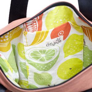 kısmet Shoppertasche mit Reißverschluss, Canvas Kastanie, upcycling&bio - diejuju