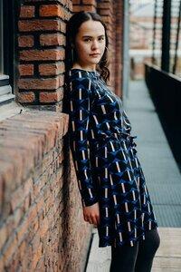 Tencel Kleid - Dress magnolia arrow gemustert - Froy & Dind