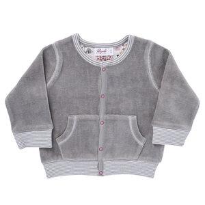 Baby Nickyjacke dunkelblau u. taube Bio Baumwolle - People Wear Organic