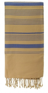 Fouta Hamamtuch aus reiner Bio-Baumwolle 200 × 100 cm (Stil SAND) - Karawan authentic