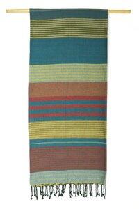 Fouta Hamamtuch aus reiner Bio-Baumwolle 200 × 100 cm (Stil EBENE) - Karawan authentic