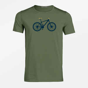 T-Shirt Adores Slub Bike Mountain Bike - GreenBomb