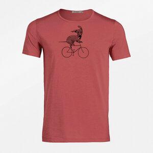 T-Shirt Adores Slub Bike Sausage Dog - GreenBomb