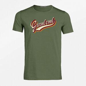 T-Shirt Adores Slub Lifestyle Logo Retro - GreenBomb