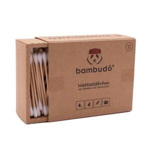 1er Pack Wattestäbchen aus Bambus von bambudō® - bambudō