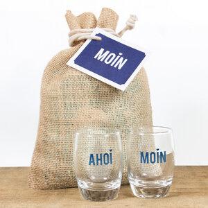 """Shotgläser im Geschenksäckchen """"Ahoi & Moin"""" - Bow & Hummingbird"""