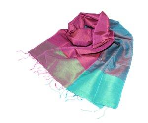 RABEA Edler Schal aus handgewebter Seide - Schönes aus Indochina