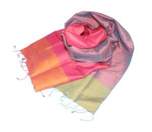 SALSA Edler Schal aus handgewebter Seide - Schönes aus Indochina