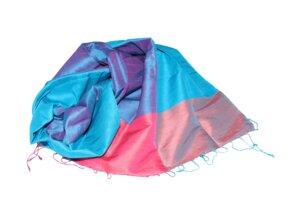 TAMINA Edler Schal aus handgewebter Seide - Schönes aus Indochina