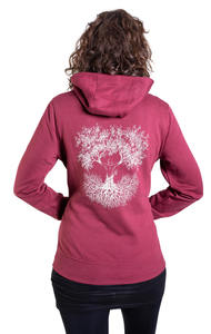 Fairwear Organic Hoodie Women Burgundy Fusion - Life-Tree