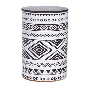 Hocker Aztec mit Stauraum  - rund:Stil