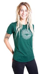 """Ecovero Shirt Fairwear für Damen """"Ascension"""" in Bottle Green - Life-Tree"""
