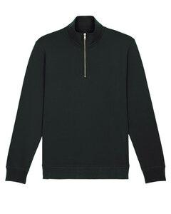 Herren Sweatshirt mit Kragen und Reißverschluss, Männer Pullover - YTWOO