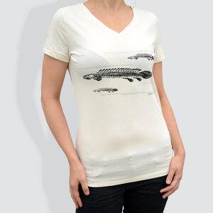 """Damen T-Shirt, """"Poly"""" - little kiwi"""