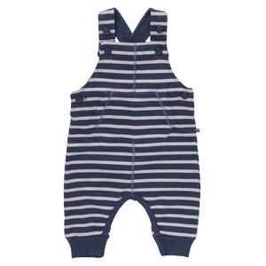 Baby Latzhose dunkelblau geringelt Bio People Wear Organic - People Wear Organic
