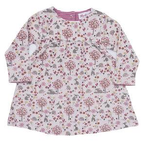 Mädchen LA Kleid rosa bedruckt Bio People Wear Organic - People Wear Organic