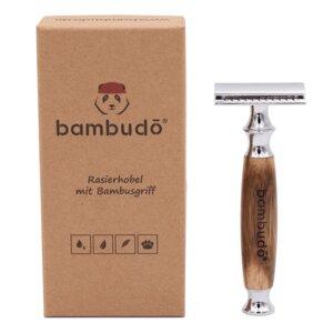 Rasierhobel von bambudo® inkl. 10 Klingen aus Solinger Stahl  - bambudō