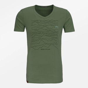 T-Shirt Peak Nature Mountains Call - GreenBomb