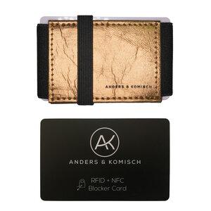 Kleiner Geldbeutel mit RFID- & NFC Schutz –A&K MINI Bundle Gold - ANDERS & KOMISCH