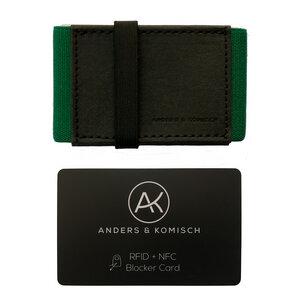 Kleiner Geldbeutel mit RFID- & NFC Schutz –A&K MINI Bundle Schwarz - ANDERS & KOMISCH