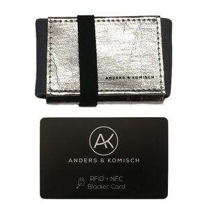 Kleiner Geldbeutel mit RFID- & NFC Schutz –A&K MINI Bundle Silber - ANDERS & KOMISCH