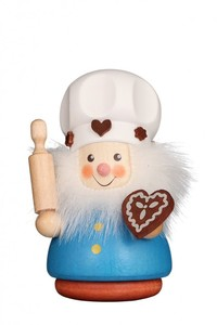Ulbricht Wackelmännchen Zuckerbäcker in Geschenkbox aus dem Erzgebirge bunt oder natur - Ulbricht