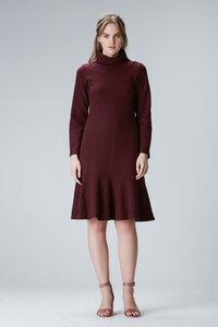 KORSIKA - Kleid mit Rollkragen und Volant aus Biobaumwolle - Flowmance