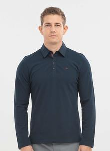 Langarm-Poloshirt aus Bio-Baumwolle - ORGANICATION