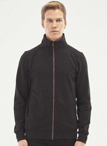 Sweatshirt aus Bio-Baumwolle mit Stehkragen - ORGANICATION