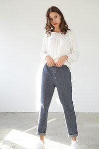 Lässige Jerseyhose aus strukturierter Baumwolle - ME&MAY